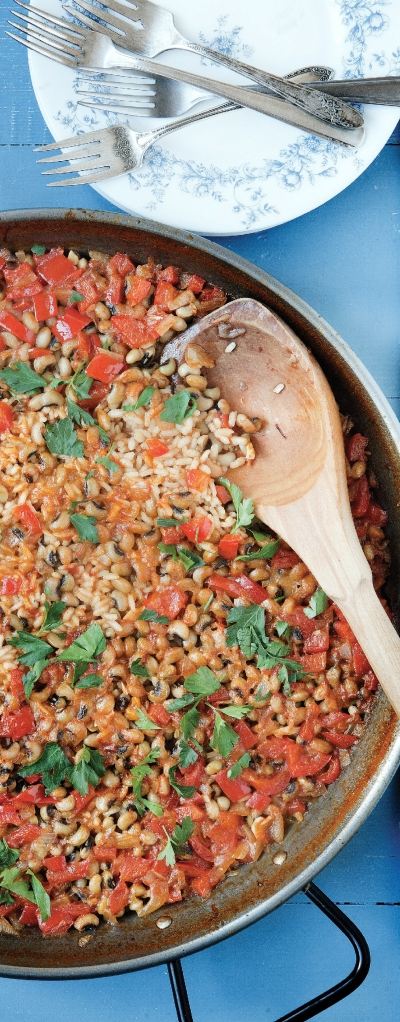Black eyed pea paella