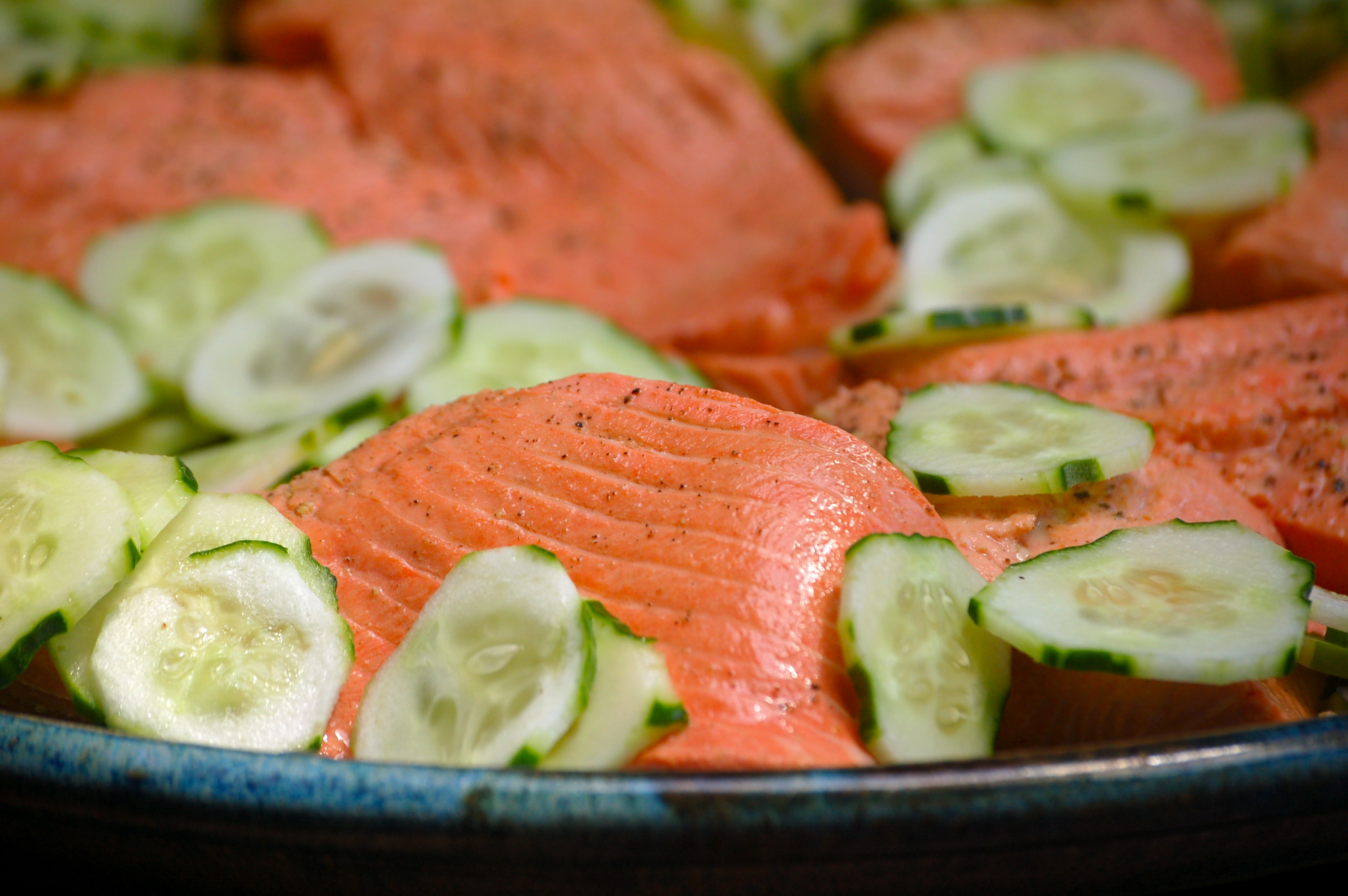 Poached Salmon with Herb Mustard Sauce